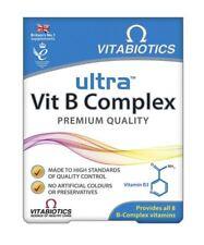 Vitabiotics Ultra Vit B Complex Provides All 8 B Complex Vitamins - 60 Tablets