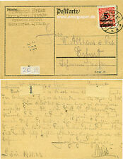 Postkarte Seltene EF Inflation Infla Fa. Brück Sömmerda an Althaus Erfurt 1923