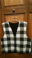 Women's Black and White Flannel Vest