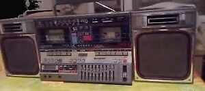 Vintage Boombox Sharp GF-800Z (BK) Ghettoblaster Rare Working