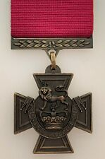 British VICTORIA CROSS Medal Gallantry Award in SOLID BRONZE full size & ribbon