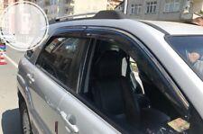 Kia Sportage  CHROME EDGE Window Wind-Rain Deflectors Stick-On-Type  2006-2009