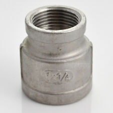 """Nipple 1"""" x 3/4"""" Female Stainless Steel 304 Threaded Reducer Pipe Fitting"""