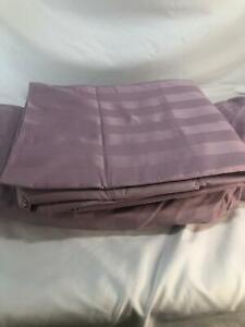 """As is"" Northern Nights 650TC Egyptian Cotton Dobby Stripe Sheet Set"