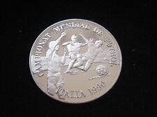 """MDS ANDORRA 10 DINAR 1989 PP """"FIFA FUSSBALL WM 1990 IN ITALIEN"""", SILBER  #19"""