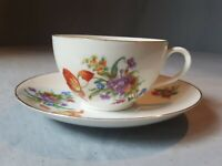 Vintage Porcelain Floral Teacup (PUN50) by Union