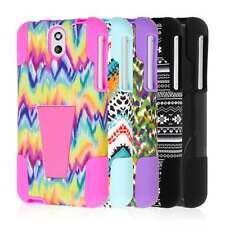 For HTC Desire 610 Tough Impact Resistant Dual Layered Kickstand Case Cover