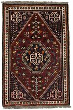 Tribal Unique Hand Knotted Small Qashqai Rug Oriental Area Wool Carpet 3X5
