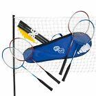Recreational Badminton Set for Backyard Brand New 4 Rackets Net Case Outdoors