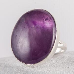 Sehr schöner Silber Ring, 925, Amethyst aus Peru in violett - lila, Größe: 56