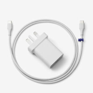 Official Genuine Google Pixel 5 4 3 2 & XL UK Wall Charger Adapter + USB-C Cable