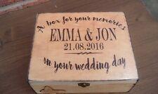 shabby vintage chic wooden personalised wedding memory box keepsakes rustic
