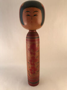 30cm Japanese Kokeshi by Eiji Aida - Made in Japan - Handmade Wooden Doll