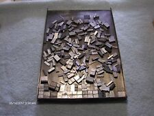 Vintage Letterpress Metal Print Type Big Lot of Spacers Many Point Sizes