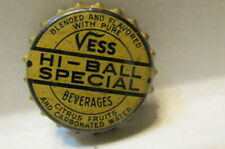 VERY RARE VESS HI-BALL SPECIAL CORK BOTTLE CAP SODA POP VINTAGE