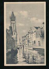 Italy Venice VENEZIA Canale di S.Barnaba c1920/30s? PPC by Fred MArtin