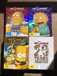Bulk SIMPSONS DVD Box Sets - Seasons 10, 12, 13 & 20.