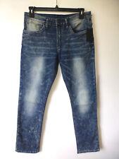 Buffalo David Bitton Mens 32x32 Ash-x Acid Washed SKINNY Stretch Jeans