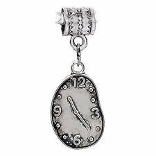Melting Clock Artist Salvador Dali Art Dangle Charm for European Bead Bracelets