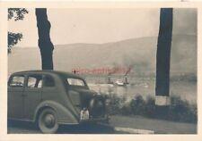Foto, Entlang dem Rhein 1940, Blick auf einen Dampfer  (N)19190