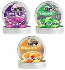 3 Pack Crazy AaronThinking Putty Amethyst Chameleon Sunburst 3.2oz tins, 1 of ea