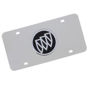 Buick Logo License Plate (Black on Chrome)