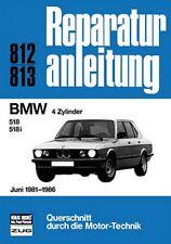 BMW 4 Zyl 518 518i 1981-1986 Reparaturanleitung Reparatur-Handbuch Reparaturbuch