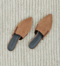 Jenni Kayne Suede Mules, Saddle, Leather, 37