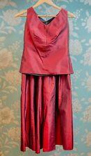 *SALE* Stunning Vintage Von Troska Burgandy Shantung Silk 2pc - Size: Small