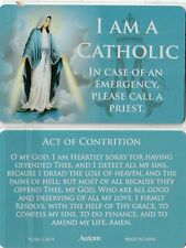 """+A-Holy Card (Wallet-Size)-""""I Am A Catholic"""" (In Case of Emergency, Call Priest"""