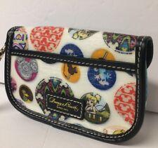 Disney Button Mickey Dumbo Tinker Bell Flap Wristlet Wallet Dooney & Bourke