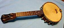 Antique MAY BELL 4 String Banjo Banjolin Mandolin Ukulele Uke Wood Neck Maybell