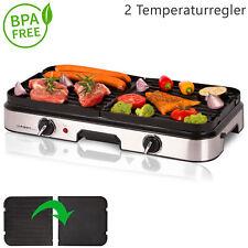 Tischgrill Grill Elektrogrill 2000 Watt Campinggrill 2 Temperaturregler BPA frei
