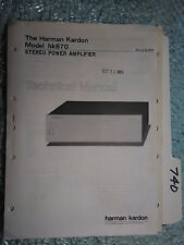 Harman Kardon hk870 hk 870 service manual original repair book stereo power amp