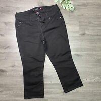Torrid Denim Cropped Black Rinse Skinny Jeans Capris Plus Size 16