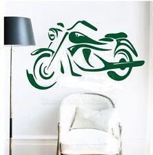 Motorrad Chopper Biker Wandtattoo Wallpaper Wand Schmuck 58 x 99 cm