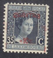 Luxembourg 1924 - Duchess Adelaide 35c on 10c Indigo - SG228 Mint Hinged (D23E)