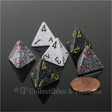 NEW Set of 6 D4 Four Sided Dice Arctic Urban Camo Granite RPG Game Speckled D4s