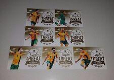 2013 - 14 A LEAGUE SOCCER TRADING CARDS 7 CARD TRIPLE THREAT SET TIM CAHILL