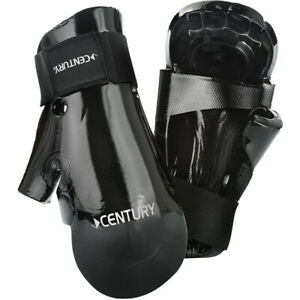 Century Kids Martial Arts Student Hook and Loop Sparring Gloves - Child - Black