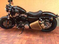 Sportster Seitentasche Braun Sporty Harley Davidson CLEAN neu Leder 1200 883 48