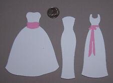 6 Wedding Dresses Premade PAPER Die Cuts / Scrapbook & Card Making
