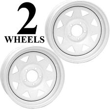 "TWO 15"" 15x5 5/5 RIM WHEEL Boat Jet Ski Camper Marine Utility Trailer Steel"