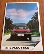 A Rare Vintage Peugeot 505 Brochure Flyer