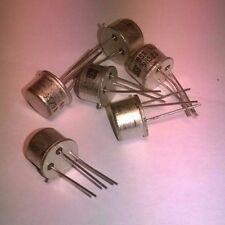 6x BSX46-16 BSX46 Medium Power Amplifier Transistor NPN, SGS, case TO-39 NUOVI
