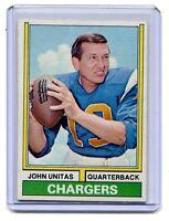 1974 Topps #150 Johnny Unitas Chargers nice jh7