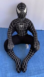 "Marvel Spider-Man 3 Black Symbiote Spider-Man 13"" Plush Toy Factory 2006"