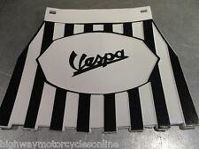 VESPA PX 125 bianco nero a righe con frange Fango Flap Mudflap Cuppini