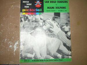 Vintage 1966 AFL Program San Diego Chargers vs. Miami Dolphins October 2, 1966