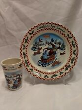 1998 Longaberger Cookies for Santa Plate and Tumbler in Excellent Condition